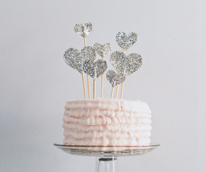 cake, glitter, and food image