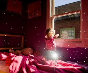 kids, pink, and light image