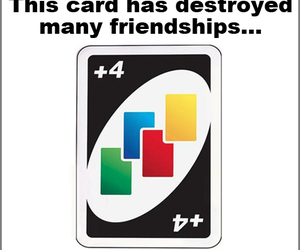 card, friendship, and uno image