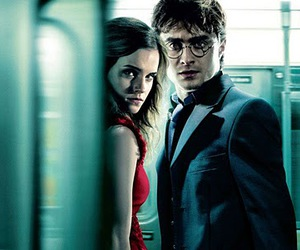 daniel radcliffe, emma watson, and harry potter image