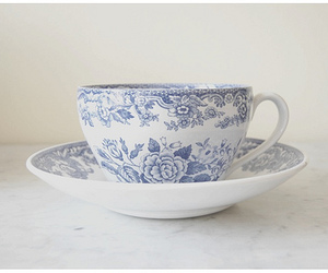 cup, blue, and white image