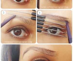 eyebrows, diy, and brows image