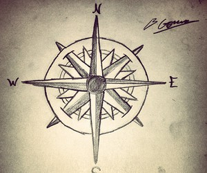 art, compass, and design image