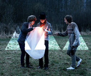 boy, triangle, and hipster image