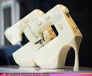 sewing machine and shoes image