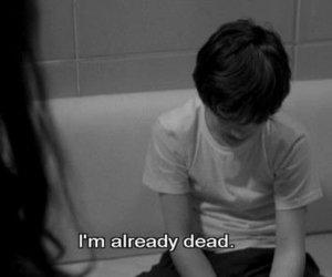 boy, depressing, and die image