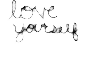 black and white, yourself, and ♥ image