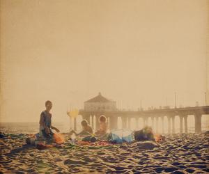 beach, family, and manhattan beach image