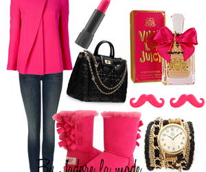 combination, glamour, and pink jacket image