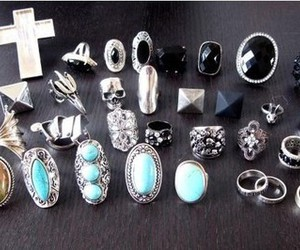 rings, fashion, and cross image