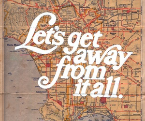 map, quote, and travel image