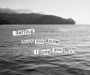 love, quote, and darling image