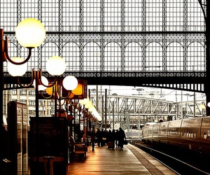 travel, paris, and station image