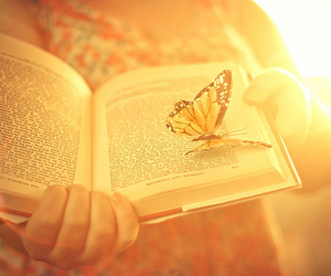 book and butterfly image