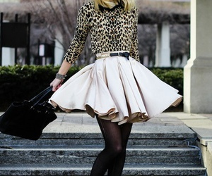 cool, heels, and chic skirt image