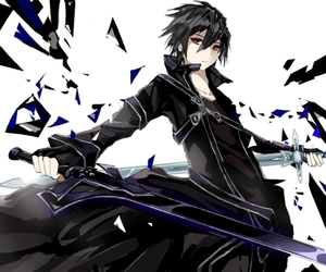 sao, kirito, and anime image