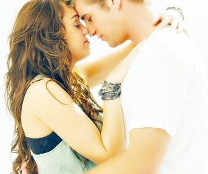 couple, miley cyrus, and love image