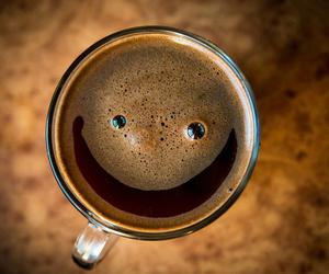 smile, coffee, and happy image