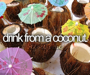 coconut, before i die, and bucket list image