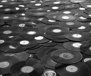 music, black and white, and black image