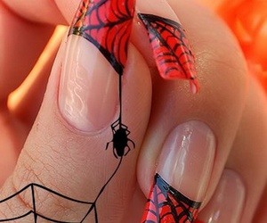nails, red, and spider image