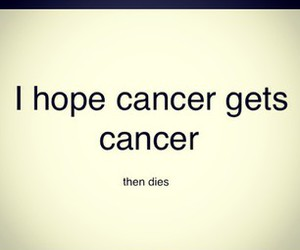 cancer and die image