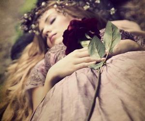 rose, princess, and flowers image