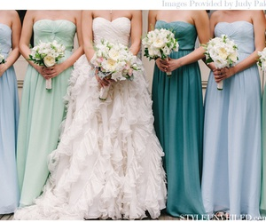 wedding, bride, and blue image
