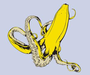 banana, octopus, and art image