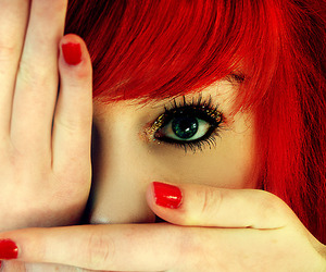 girl, red, and hair image