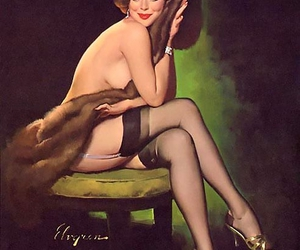 1950's, gil elvgren, and Pin Up image