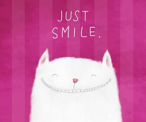 smile, cat, and art image