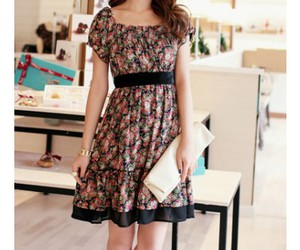 dresses, floral print dress, and chic dress image