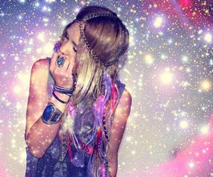 girl, sparkle, and stars image