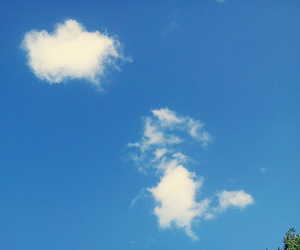 clouds, summer, and sky image