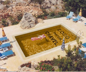 chanel, pool, and summer image