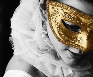 anne boleyn, gold, and mask image