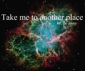 away, nebula, and place image