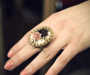 ring, vintage, and floral image