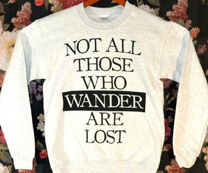sweatshirt, wander, and floral image