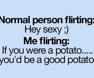 potato, flirting, and funny image