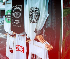 obey, starbucks, and jack daniels image