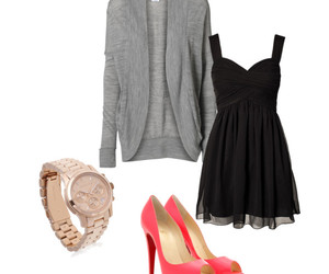 cardigan, louboutins, and watch image