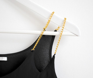 fashion, black, and gold image