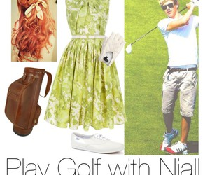 golf, outfit, and niall horan image