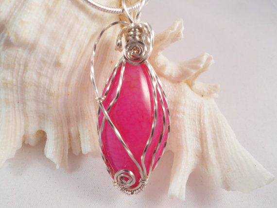 jewellery, pink, and wire wrap image