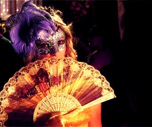 girl, mask, and masquerade image
