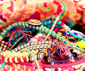 bracelet, girly, and pink image