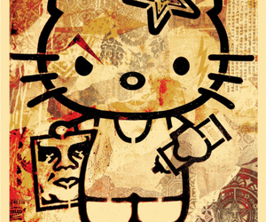 obey, hello kitty, and art image