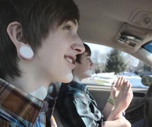 boy, car, and Plugs image